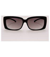 óculos de sol quadrado feminino emi beachwear preto