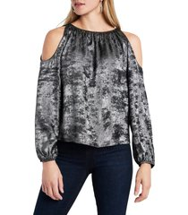 1.state cold shoulder top, size xx-large in silver dust at nordstrom