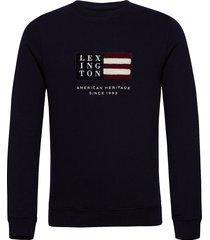 barry organic cotton sweatshirt sweat-shirt trui blauw lexington clothing