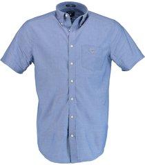 gant overhemd korte mouw blauw 3046401/436