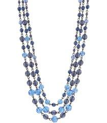 2028 hematite-tone beaded necklace