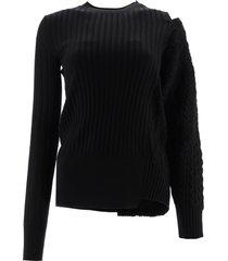 sacai asymmetrical sweater