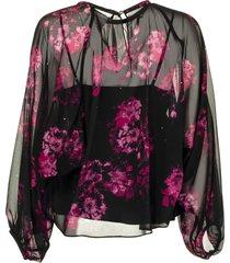 max mara abaco silk georgette blouse