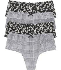 panty perizoma (pacco da 4) (nero) - bpc bonprix collection