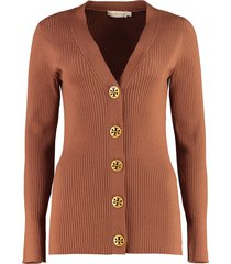 tory burch simone wool cardigan with decorative buttons