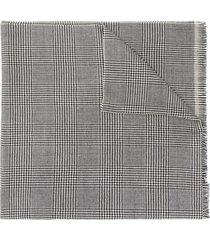 lady anne houndstooth-print scarf - black