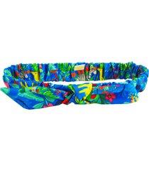 faixa de cabelo ecokids place com elástico e laço savana multicolorido