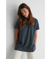 na-kd basic ekologisk oversize t-shirt med rund hals - grey