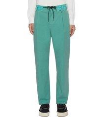 contrast waistband nylon pants