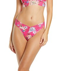 hanky panky beverly original rise thong in pink multi at nordstrom