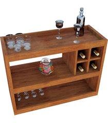 aparador bar 4050 luxo caramelo madeirado móveis jb bechara
