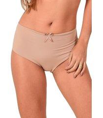 calcinha confort vip lingerie poliamida elástico invisível bege
