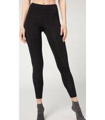 calzedonia modal and silk leggings woman black size l