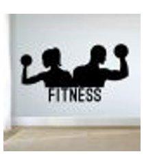 adesivo de parede casal fitness - en 98x185cm