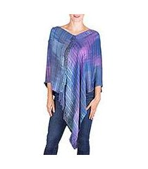 rayon poncho, 'beautiful horizon' (guatemala)