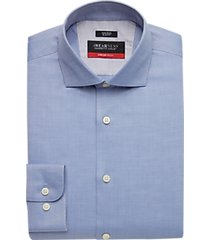 awearness kenneth cole awear-tech blue slim fit dress shirt