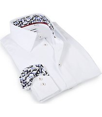 tailored-fit dog-print dress shirt