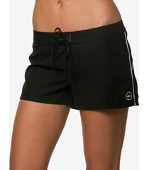 "o'neill juniors' salt water solid 3"" board shorts women's swimsuit"