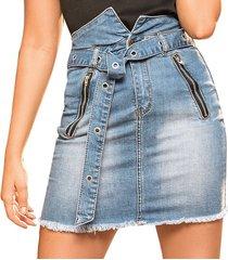 falda sandra azul para mujer croydon