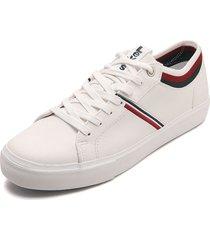 tenis blanco-azul-rojo levis woodward callage