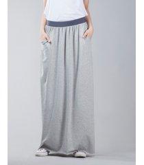 spódnica długa z kieszeniami