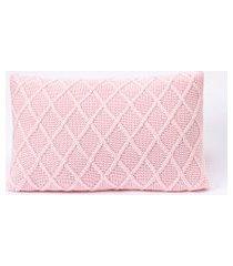 capa de almofada tricot 50x30 c/zíper sofa trico cod 106430 rosa claro