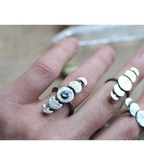 fazy księżyca - pierścionek z kamieniem