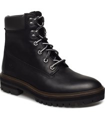 london square 6in boot shoes boots ankle boots ankle boot - flat svart timberland
