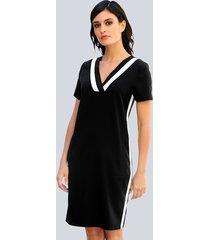 jurk alba moda zwart::offwhite