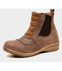 botineta de cuero marrón valentia calzados brenda 28