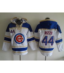 chicago cubs 44 anthony rizzo baseball hooded sweatshirt jersey