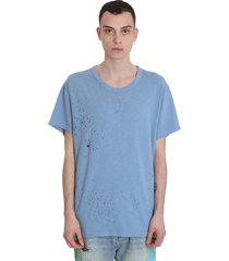 amiri t-shirt in cyan cotton