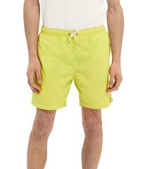 men's scotch & soda solid nylon swim trunks, size medium - yellow