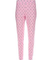 pantalon descanso corazones color rosado, talla m
