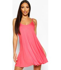 basic swing dress, coral