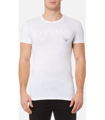emporio armani men's stretch cotton crew neck t-shirt - bianco - xl - white