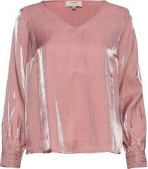 crmagda blouse blus långärmad rosa cream