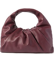 the shoulder pouch gathered leather bag