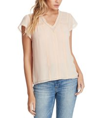 1.state trendy plus size lace-trim top