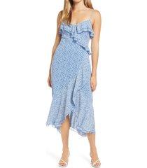 women's all in favor sleeveless ruffle hem midi dress