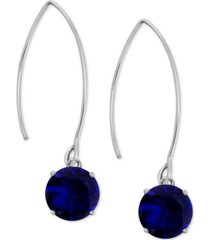 essentials cubic zirconia wire drop earrings