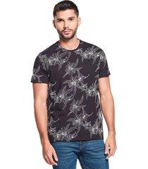 camiseta slim maxi print negra