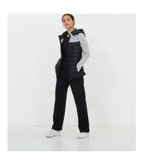 jaqueta esportiva com capuz   get over   preto   m