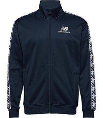 essentials track jacket sweat-shirt tröja blå new balance