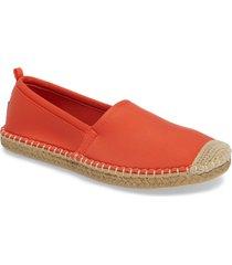 women's sea star beachwear beachcomber espadrille water shoe, size 10 m - orange
