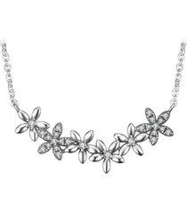 collar pequeñas flores casual plata  arany joyas