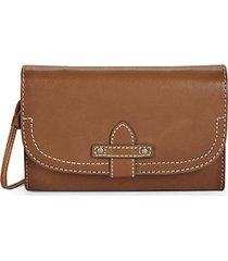 olivia leather wallet crossbody bag