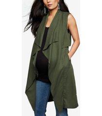 bb dakota maternity draped vest
