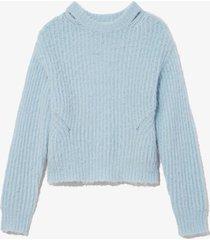 proenza schouler white label brushed alpaca sweater 00411/blue l