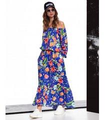 sukienka woodstock w kwiaty